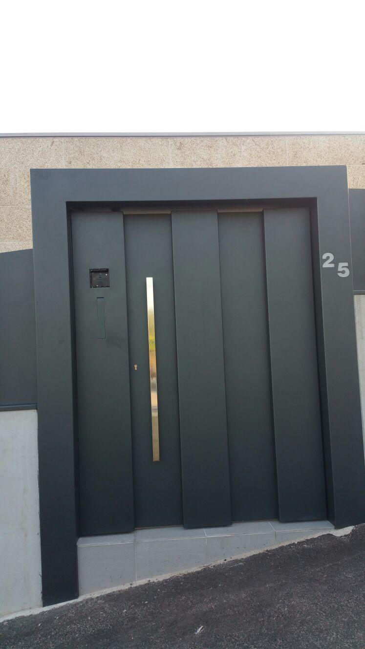 Puerta con un diseño unico